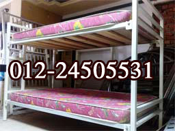 metal bunkbed , double bed